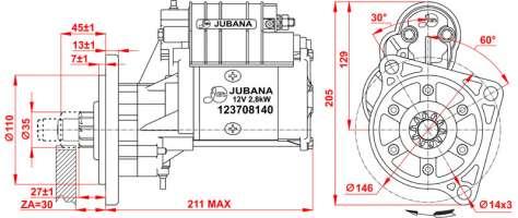 STARTER Serial number 123708140